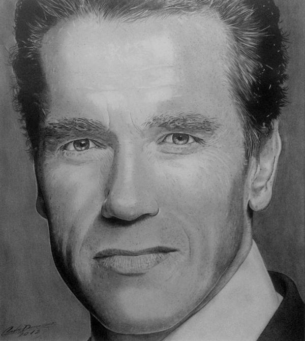 Curso de Desenho Realista de Carlos Damasceno - Arnold Schwarzenegger