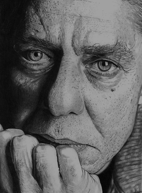 Curso de Desenho Realista de Carlos Damasceno - retrato de Chico Burque