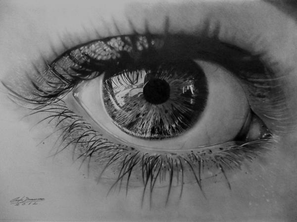 Curso de Desenho Realista de Carlos Damasceno - olho realista