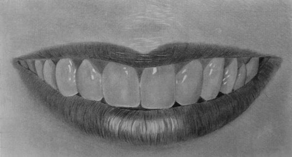 Curso de Desenho Realista de Carlos Damasceno - aula boca e dentes femininos