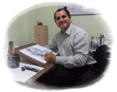 Curso de Desenho Realista de Carlos Damasceno - desenhando