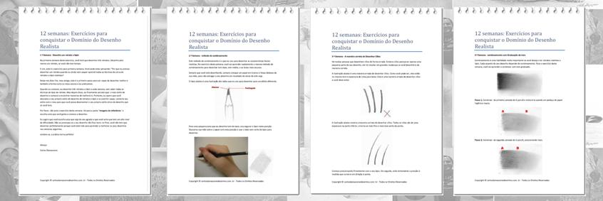 Curso de Desenho Realista de Carlos Damasceno - aulas para aprimorar a técnica pdf iniciantes