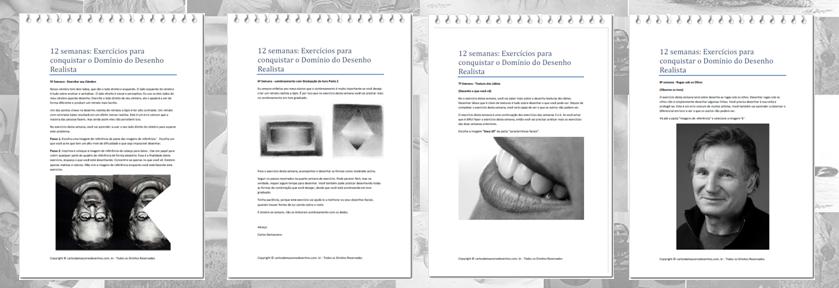 Curso de Desenho Realista de Carlos Damasceno - aulas para aprimorar a técnica pdf intermediário