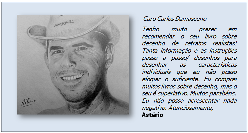 Curso de Desenho Realista de Carlos Damasceno - desenho de aluno Astério