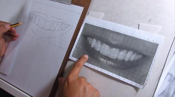 Curso de Desenho Realista de Carlos Damasceno - Técnica do Quadriculado ou Técnica de Grid